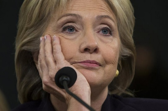 Democratic presidential candidate, former Secretary of State Hillary Rodham Clinton testifies on Capitol Hill in Washington, Thursday, Oct. 22, 2015, before the House Benghazi Committee.   (AP Photo/Carolyn Kaster)